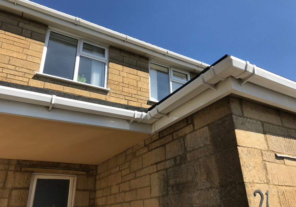 after fascia soffit cleaning