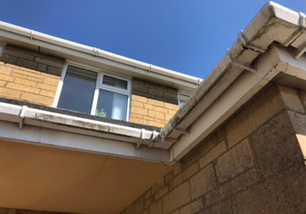 before fascia soffit cleaning